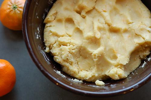 Dough for Vegan Mandarin Coconut Cookies by Eve Fox, Garden of Eating blog, copyright 2013