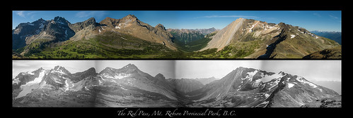 The Rainbow Range and the Red Pass: Mt. Robson Provincial Park.