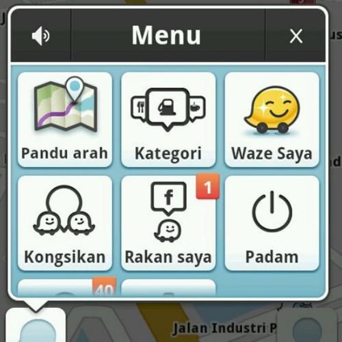 Waze saya berkilau! Ianya emas! #waze #WazeMY #Malaysia