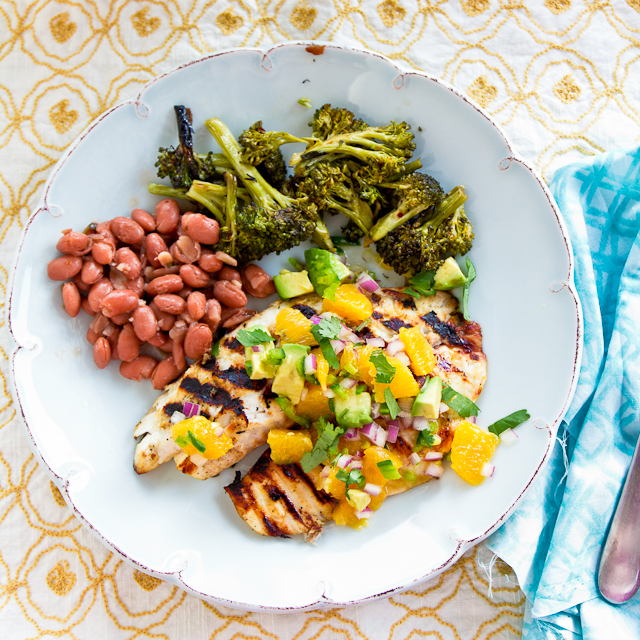 Grilled Tilapia with Orange-Avocado Salsa