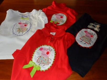 camisetas de pepa pig juntas
