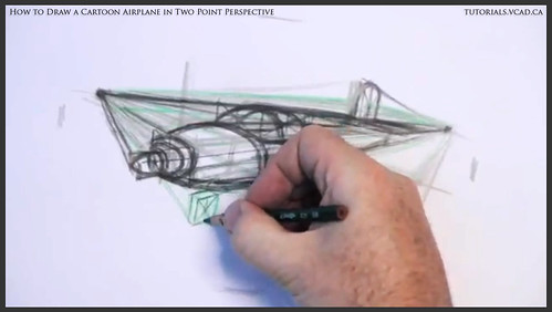 learn how to draw a cartoon airplane in two point perspective 021