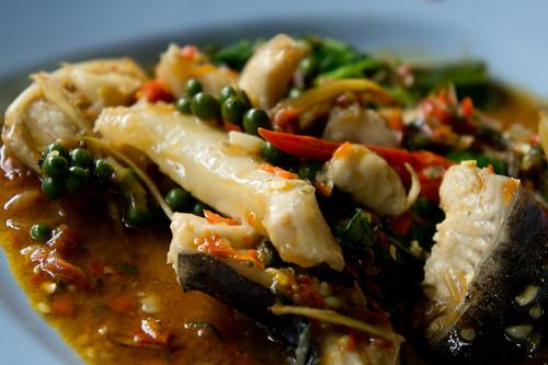 Thai's stir fry fish in chilli sauce