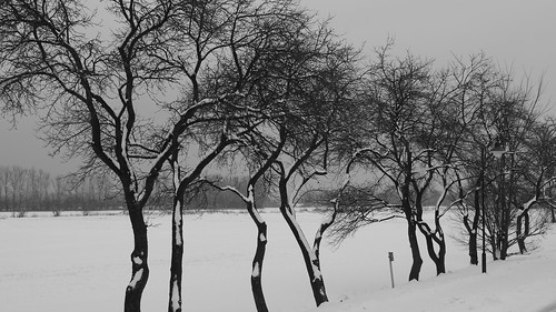 Frühling beginnt mit Eis und Schnee