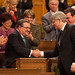 Earlier: Handshake with @pmharper after the budget speech.
