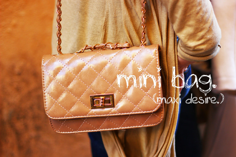 mini bag. chanel quilted 2.55 bag inspired