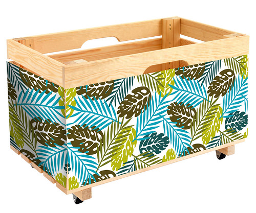 Box with Hawaiian Print