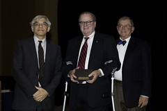 Sam Milkes, ED, PLAN; Chief Justice Ronald D. Castille; and Judge Chester Harhut, PLAN Board President