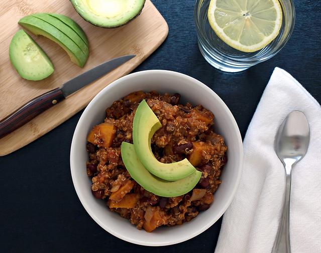 Sweet Potato & Quinoa Chili - The Simple Veganista