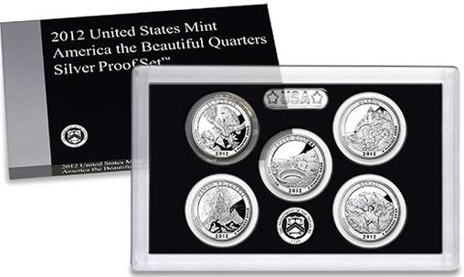 Sada mincí USA 2012 Beautiful Quarters PROOF