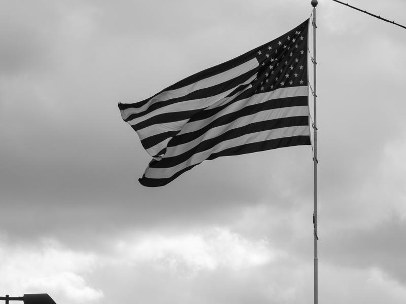 Flag in B&W