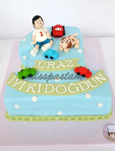 1th birthday cake by MİSSPASTAM
