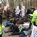 "The police and the NHS ""die-in"" outside Parliament"