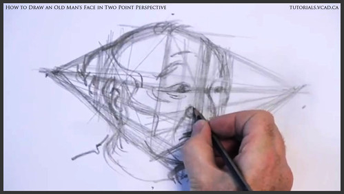 learn how to draw an old man's face in two point perspective 013