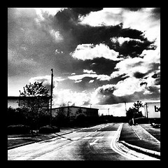 #Clouds - One fine day at work - #2011 #surreal #clouds #fine #art #work #conceptual #bnw #bonmarche #formation #abstract #uk #wakefield #britain #mobilephotography