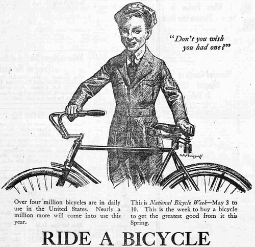 """Ride A Bicycle""-National Bicycle Week, 1919"
