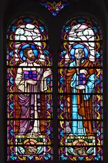 Vitrail de l'église de Saint-Saëns