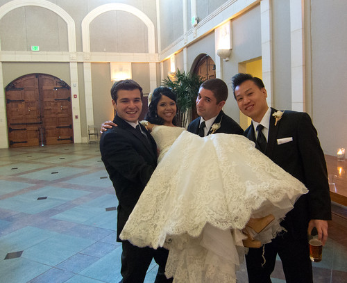 Groomsmen Lifting Marlene