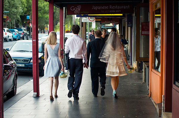 glebe point road sydney wedding party circular drop veil