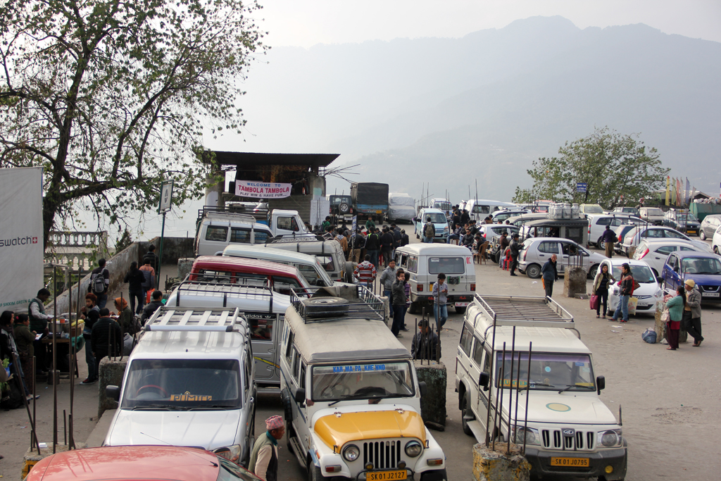 One of Gangtok's jeep stations