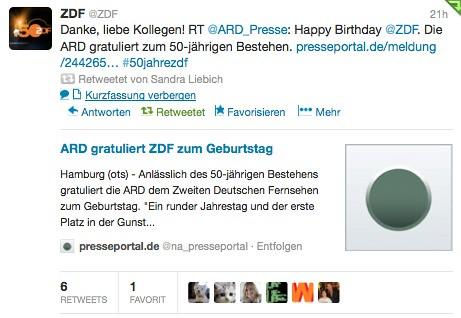 Tweet @ZDF