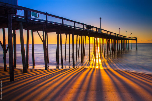 shadow sunrise landscape pier maryland line oceancity twtmeiconoftheday