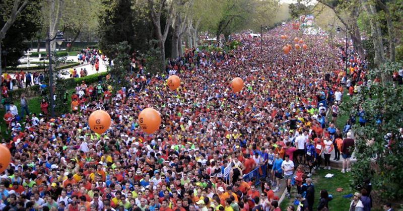 Paseo Fernán Núñez start Medio Maratón (1 april 2012)
