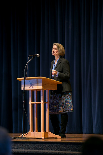 Augsburger lecture chapel with Dr. Dana Robert