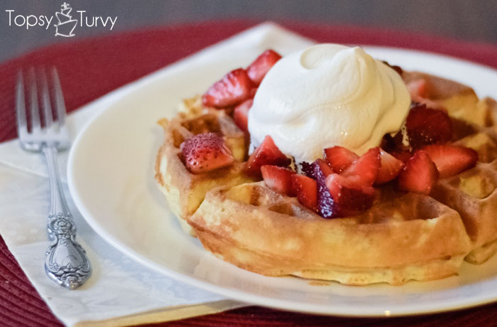 easy-waffle-recipe-strawberries-whipped-cream