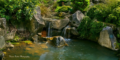 waterfall boulders kubotagarden