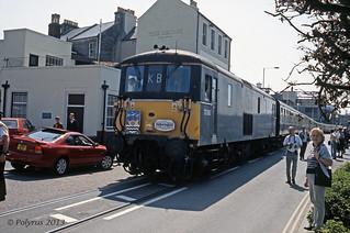 73106 electro-diesel loco on Weymouth quay