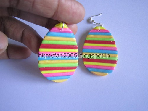 Handmade Jewelry - Rolled Paper  Earrings (Teardrops) (2) by fah2305
