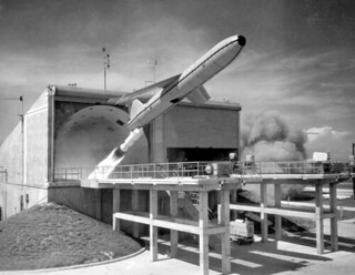 Mace Missile launch at USAF Missile Test Center: Tampa, Florida