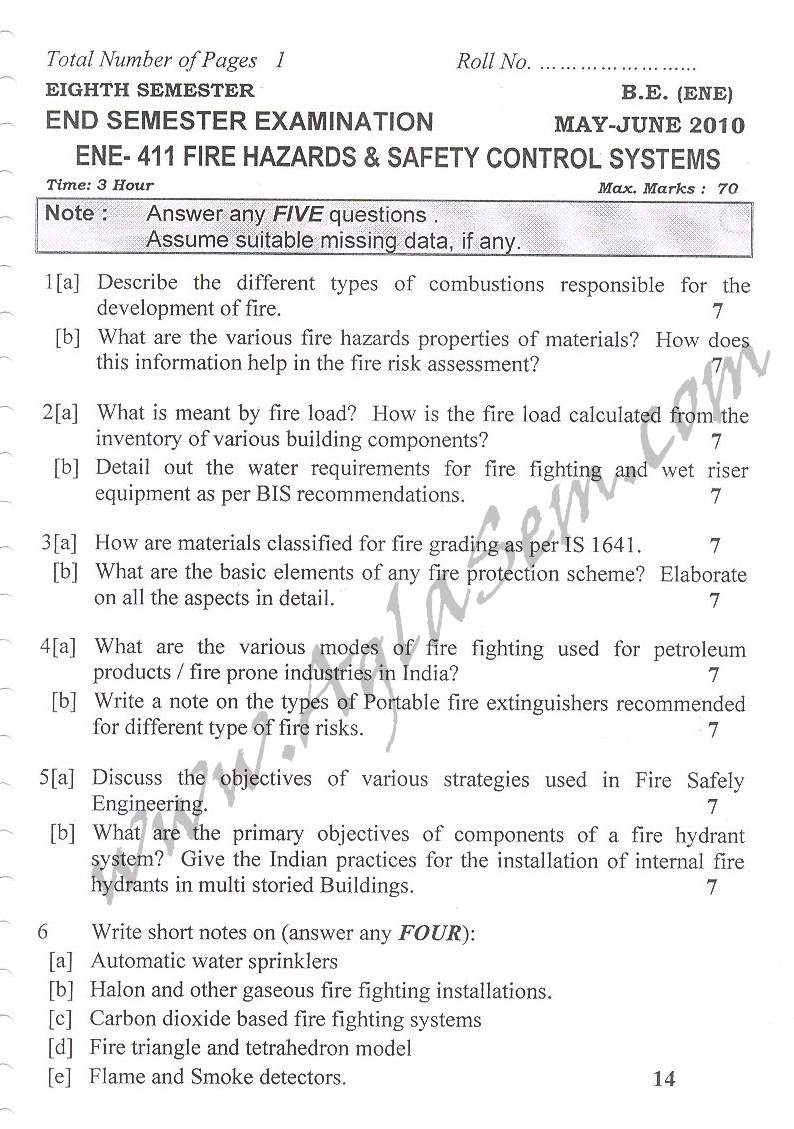 DTU Question Papers 2010 – 8 Semester - End Sem - ENE-411