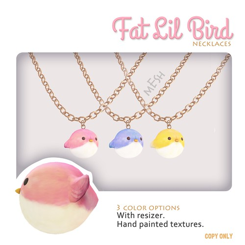 Fat Lil Bird, the necklaces