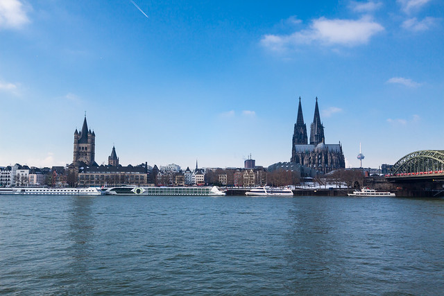 Rhein River and Koln Landscapes
