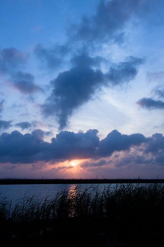 sunset night cloudy pensacola