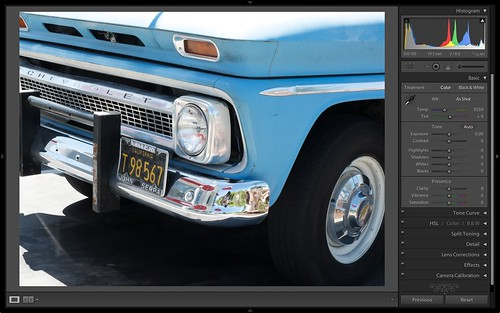 Lightroom Display of X-20 File