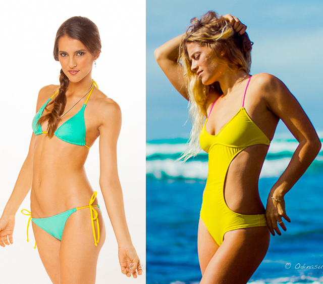 4 odina surf my fair vanity nina nolte paintings sustainable swimsuits for summer 2013