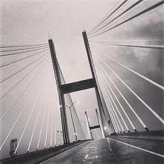 Not the #damespointbridge in #savannah for the weekend #kidfree with @ladysarahbug #talamadgebridge