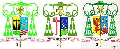 Evolución heráldica del arzobispo Blase Cupich
