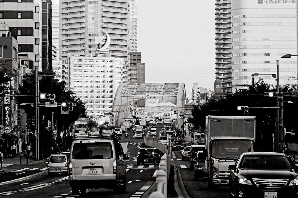 Harumi Dori bridge, Tsukiji