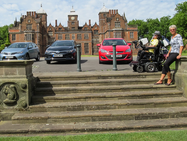 Daniel and his Aunt in front of Aston Hall