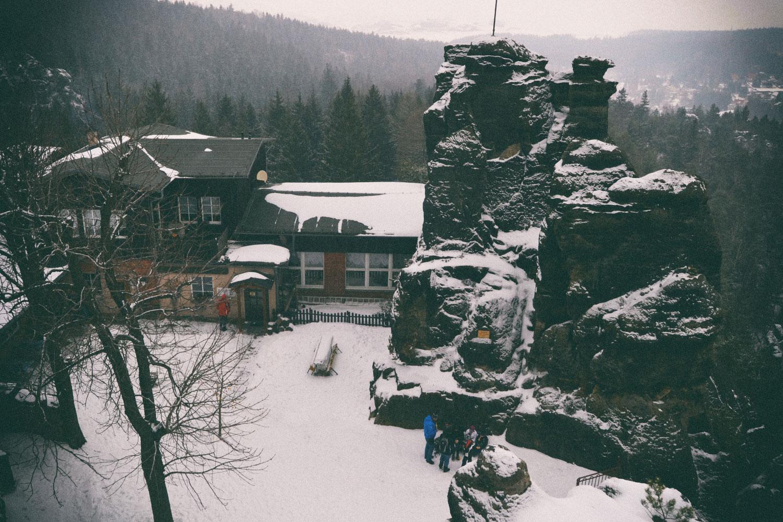 Berggasthof in den Nonnenfelsen