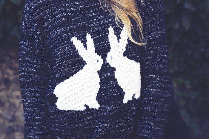 fashion union grey bunny jumper
