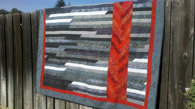 1600 Quilt with red braid
