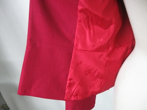 Rose jacket lining