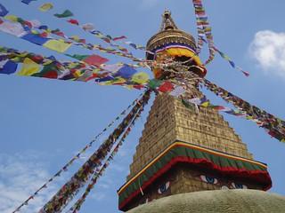 Boudhanath Stupa em Kathmandu no Nepal