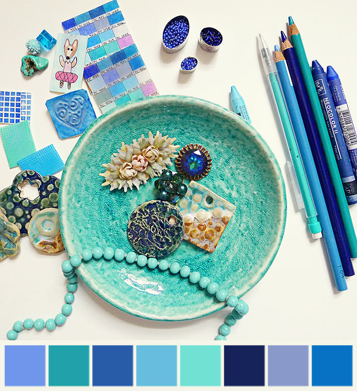 mood board - blue