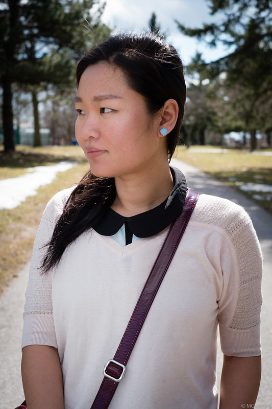 layering peter pan collar sweater